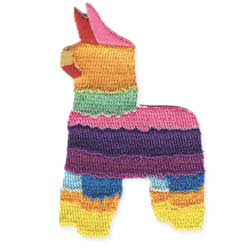 Colorful Pinata Embroidered Iron on Patch
