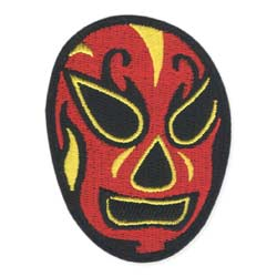 Luchador Mexican Wrestler Embroidered Iron on Patch