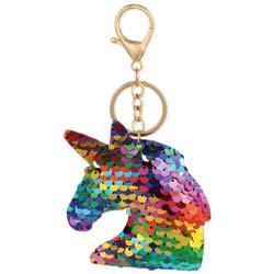 Majestic Unicorn Reversible Sequin Keychain