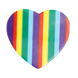 Rainbow Brights Heart Hair Clip