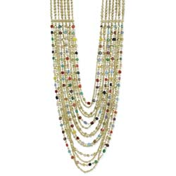 Gold & Multi bEaded Layer Necklace
