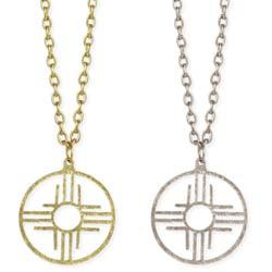 Santa Fe Style Zia Sun Pendant Necklace