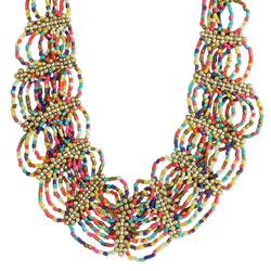 Bright, Bold & Beautiful Beaded Bib Necklace