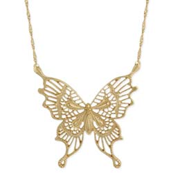 Just Wing it Gold Butterfly Pendant Necklace