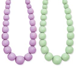 Pastel Chunky Round Bead Necklace