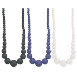 Round Graduated Bead Resin Necklace