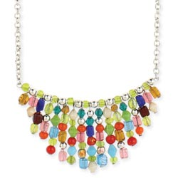 Multi Bead Tiny Bib Necklace