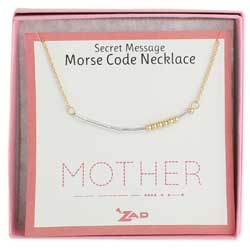 Mixed Metal Mother Morse Code Necklace