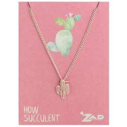 Cutout Cactus Necklace
