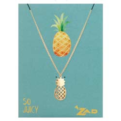 So Juicy Pineapple Charm Necklace