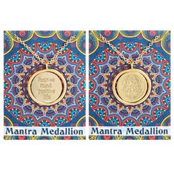 Positive Life Mantra Spinning Medallion Necklace