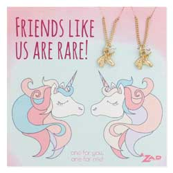 Friends Like us are Rare Unicorn BFF Necklace Set