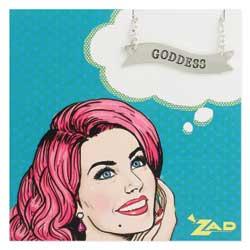 Goddess Silver Banner Necklace