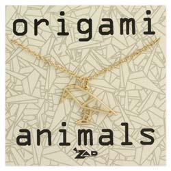 Origami Animals Crow Necklace
