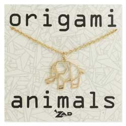 Origami Animals Elephant Necklace