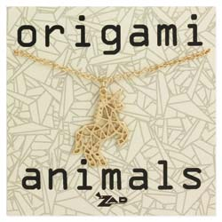 Origami Animals Unicorn Necklace