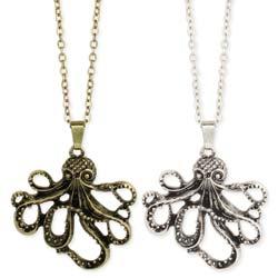 Diving Deep Octopus Pendant Necklace