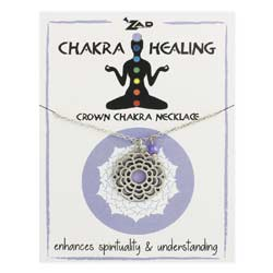 Crown Chakra Healing Purple Bead Necklace