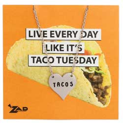 Heart Taco Lovers Necklace