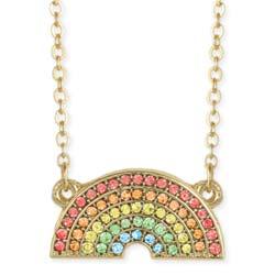 Sparkling Crystal Rainbow Pendant Necklace