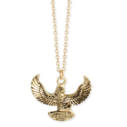 Born of Fire Gold Egyptian Phoenix Necklace