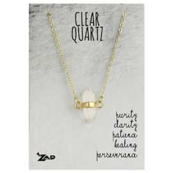 Healing Crystal Clear Quartz Stone Necklace
