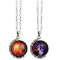 Wonders of the Universe Spinning Pendant Necklace