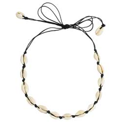 Beach Basics Black Cord & Cowry Shell Necklace