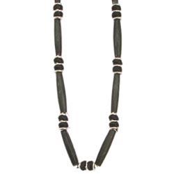 Black Bone Bead Necklace
