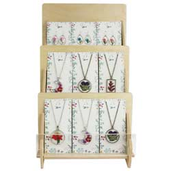 Pressed Flower Jewelry Program - Counter Display - 36 pcs