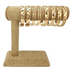 Gold Cuff Bracelet Bar Display - 12 pcs