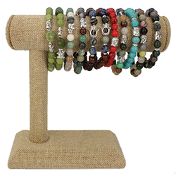 Spiritual Stone Stretch Bracelet Bar Display - 18 pcs