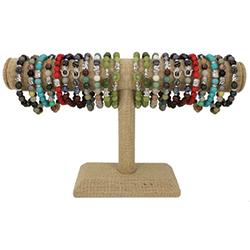 Spiritual Stone Bracelet T Bar Display - 36 pcs