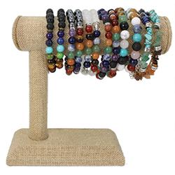 Chakra Stone Bracelet Bar Display - 18 pcs
