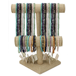 4mm Gemstone Necklaces Bracelets Display