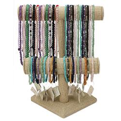 Gemstone Bead Necklaces Bracelets Display