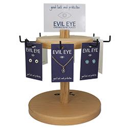 Evil Eye Necklaces Earrings Spinner Display