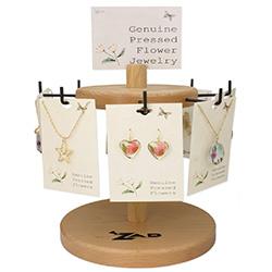 Flower Necklaces Earrings Spinning Display