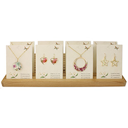 Flower Necklaces Earrings Counter Display