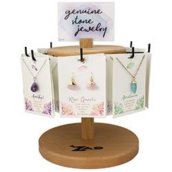 Gemstone Earrings Necklaces Spinning Display