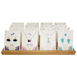 Gemstone Earrings Necklaces Counter Display