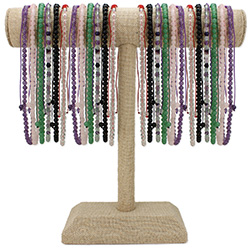 6mm Stone Pull Necklaces Display