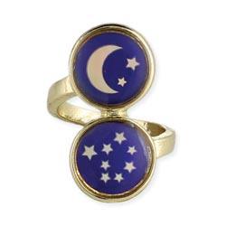 Gold Moon & Stars Mood Ring