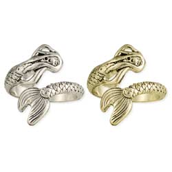 Mermaid Hug Wrap Band  Ring