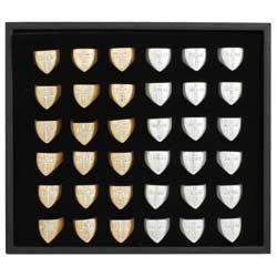 Gold & Silver Crystal Cross Signet Ring Program  - 36 pcs