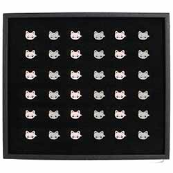 Pretty Kitty Enamel Ring Display