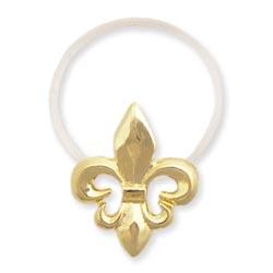 Gold Metal Fleur-de-lis Illusion Toe Ring