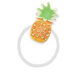 Rhinestone Enamel Pineapple Illusion Toe Ring