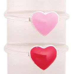 Enamel Heart Illusion Toe Ring