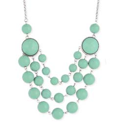 Mint Bead 3 Line Necklace